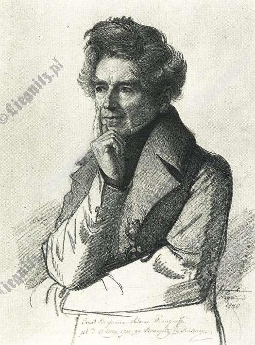 Portret Ernsta Raupacha autorstwa Carla Christiana Vogel von Vogelstein